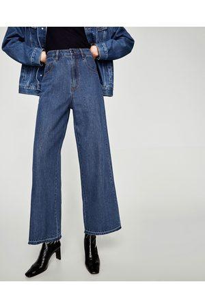 Zara HIGH WAIST WIDE-LEG JEANS