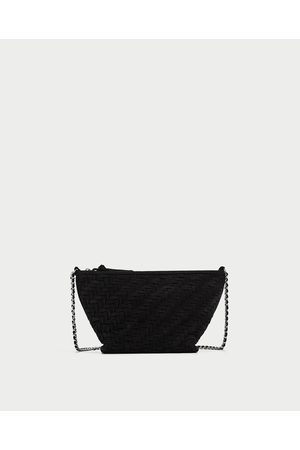 Zara BRAIDED SPLIT SUEDE CROSSBODY BAG - Available in more colours