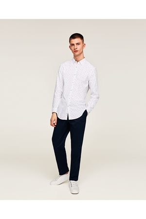 Zara LETTER PRINT OXFORD SHIRT - Available in more colours