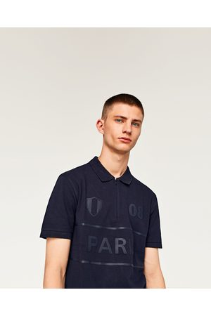 Zara PARIS PRINT POLO SHIRT WITH ZIP - Available in more colours