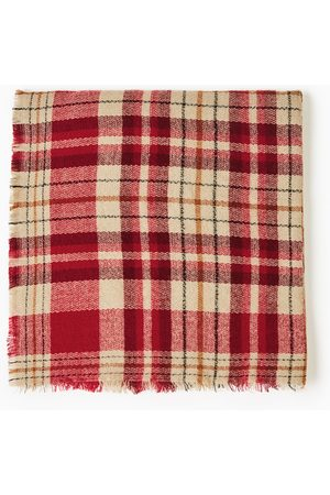 Zara RED CHECKED HANDKERCHIEF