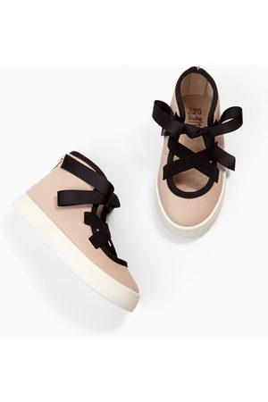 Zara HIGH TOP SNEAKERS WITH BOW