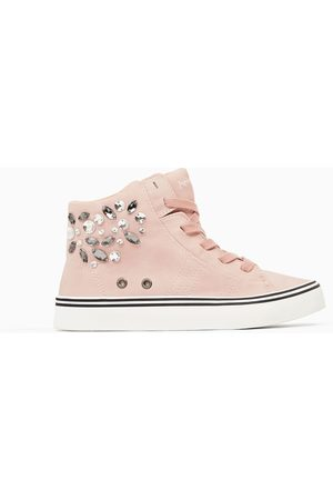 Zara BEJEWELLED HIGH TOP SNEAKERS