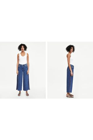 Zara CULOTTE JEANS WITH SIDE TRIMS