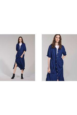 Zara LONG LINEN DRESS