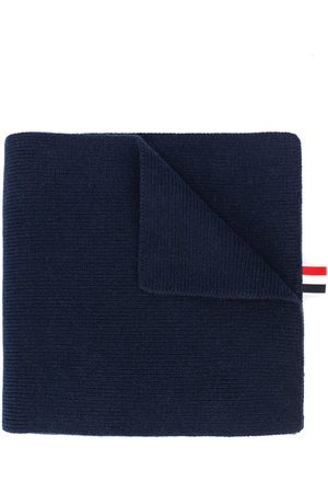 Thom Browne 4-Bar Stripe Cashmere Rib Scarf