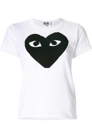 Comme des Garçons Naiset T-paidat - Heart print T-shirt
