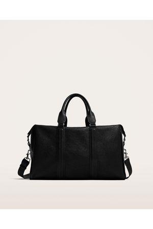 Zara EMBOSSED BOWLING BAG