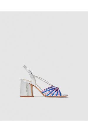Zara STRAPPY HIGH-HEEL SANDALS