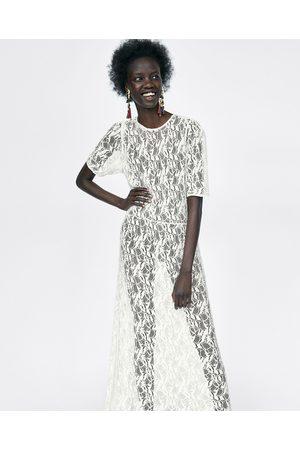 Zara LONG LACE DRESS