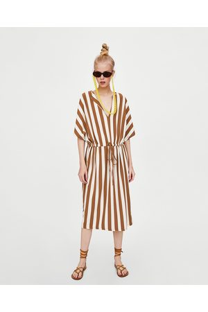 Zara STRIPED TUNIC DRESS