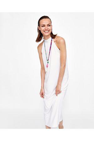 Zara RIBBED HALTERNECK DRESS