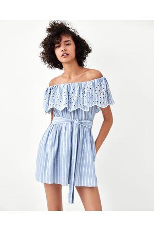 Zara OFF-THE-SHOULDER JUMPSUIT DRESS