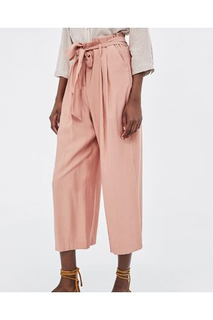 Zara Naiset Culottes-housut - PAPERBAG WAIST CULOTTES