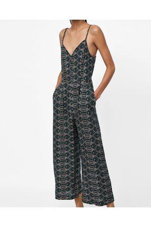 Zara PRINTED CULOTTE JUMPSUIT