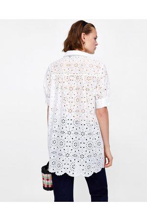 Zara TUNIC WITH CUTWORK EMBROIDERY