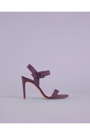 Zara FABRIC HIGH-HEEL SANDALS