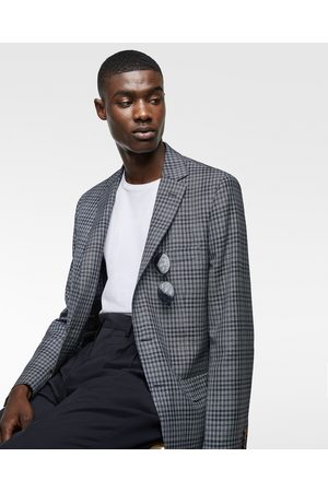 Zara LIMITED EDITION GINGHAM CHECK BLAZER