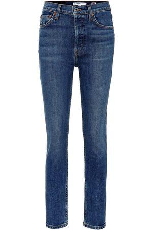 RE/DONE Naiset Korkeavyötäröiset farkut - Cropped high-rise skinny jeans