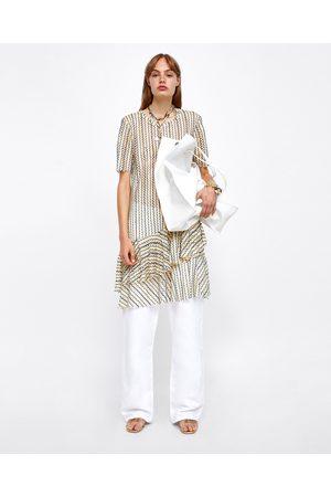Zara MESH DRESS WITH ASYMMETRIC HEM