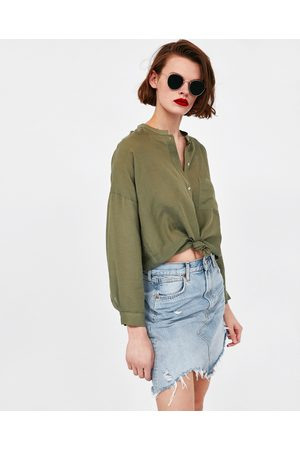 Zara RIPPED DENIM MINI SKIRT
