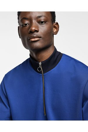 Zara HIGH NECK POLO SHIRT WITH ZIP-UP FRONT