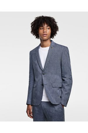 Zara STRIPED LINEN SUIT BLAZER