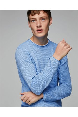Zara TEXTURED WEAVE SWEATER WITH CONTRASTING T-SHIRT DETAIL