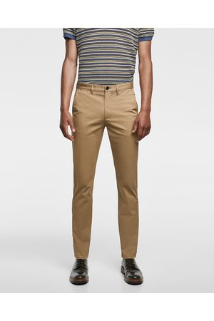 Zara BASIC SLIM FIT TROUSERS