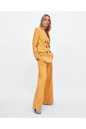 Zara COLOURED WIDE-LEG TROUSERS