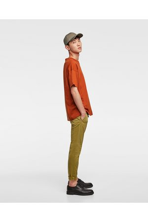 Zara BASIC SKINNY CHINO TROUSERS