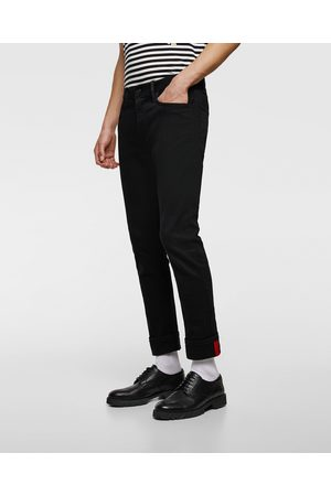 Zara SLIM FIT JEANS WITH CONTRASTING TRIMS