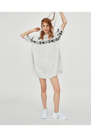 Zara CONTRASTING TUNIC DRESS