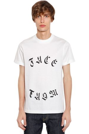 FACETASM Logo Printed Cotton Jersey T-shirt