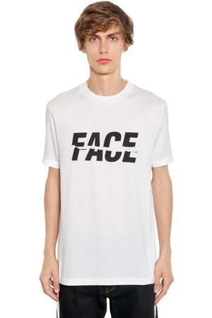 FACETASM Face Printed Cotton Jersey T-shirt