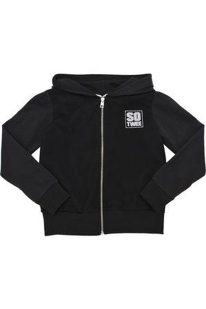 SO TWEE Hooded Light Cotton & Mesh Sweatshirt