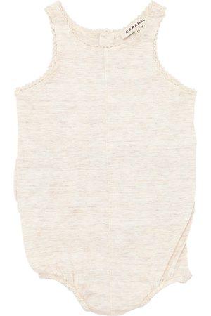 Caramel Slub Cotton Jersey Bodysuit