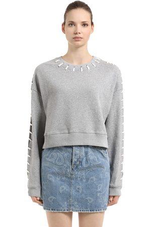 JONATHAN SIMKHAI Whip Stitch French Terry Crop Sweatshirt