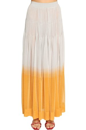 Missoni Ruffled Lamé Knit Maxi Skirt