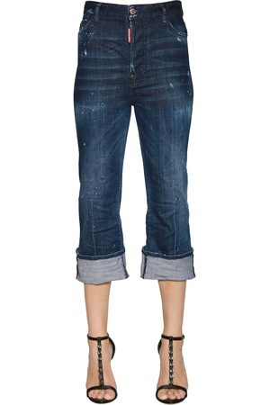 Dsquared2 Cropped Flared Denim Jeans