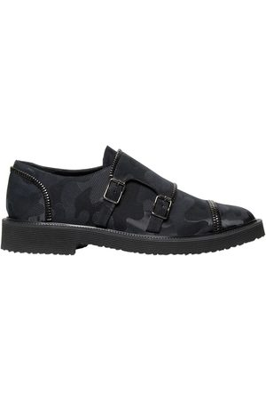 Giuseppe Zanotti Zipped Camo Monk Strap Shoes