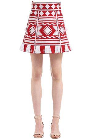 VITA KIN Croatia Embroidered Linen Mini Skirt