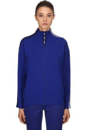 SJYP Stripes Zip-up Cotton Blend Sweatshirt