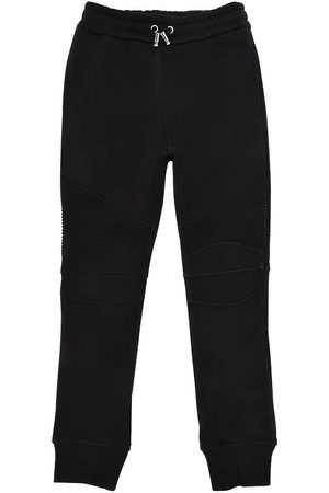 Balmain Biker Cotton Sweatpants