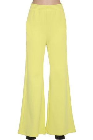 MM6 MAISON MARGIELA Ribbed Jersey Wide Leg Pants