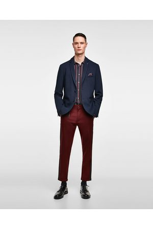 Zara Miehet Taskuliinat - TEXTURED WEAVE BLAZER WITH POCKET SQUARE