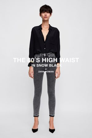 Zara JEANS ZW PREMIUM '80S HIGH WAIST SNOW BLACK