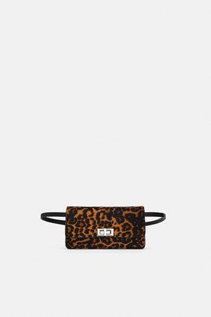 Zara LEATHER PRINT MULTIWAY CROSSBODY BELT BAG