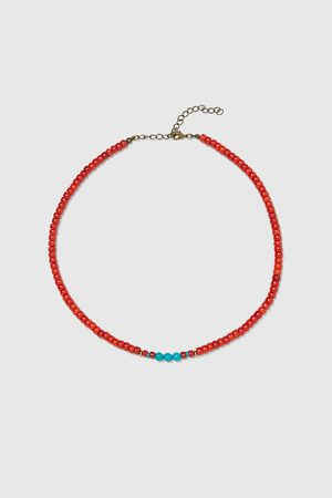 Zara CONTRAST NECKLACE WITH SMALL BEADS