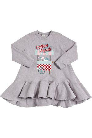 Fendi Cotton Glittered Sweatshirt Dress